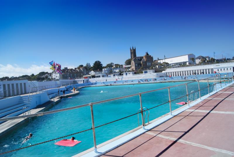El art deco Jubileo piscina cerca Penzance