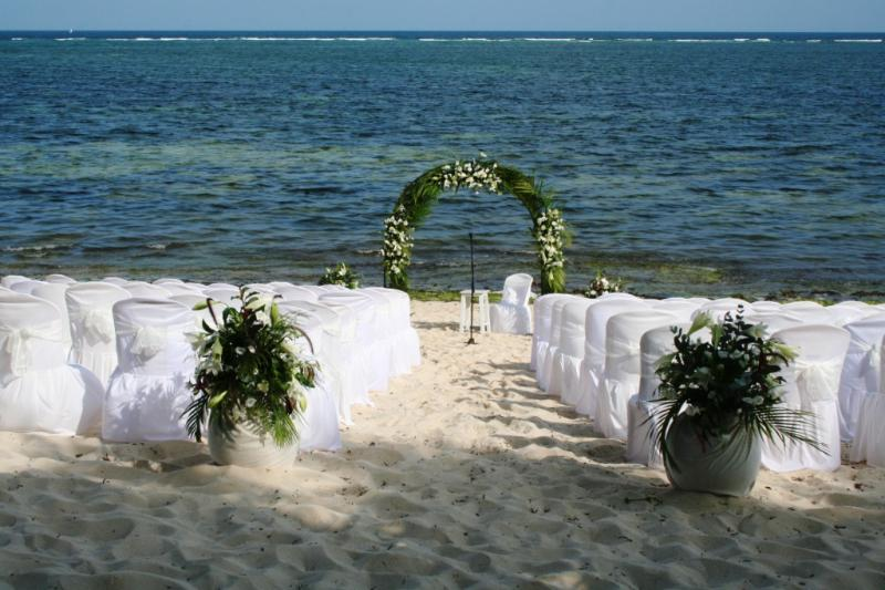 My daughters wedding on the beach in front of Beach house