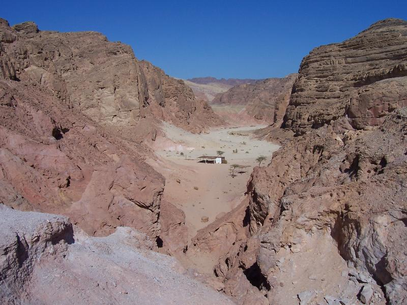 Coloured Canyon excursion by jeep is ideal for walkers and gives an insight of Sinai's interior