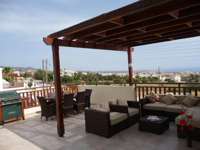 Huge balcony/terrace 7m x 7m - tastefully equipped for outdoor living. Ideal for a family holiday.