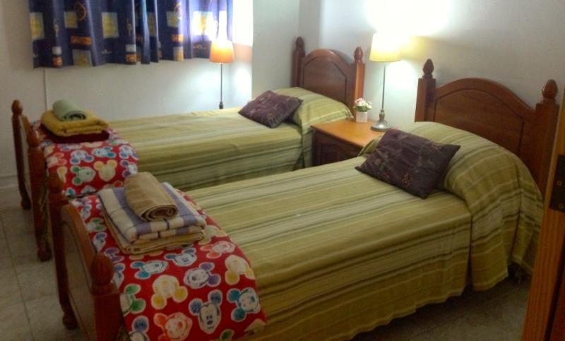 2 Single beds ( plus roomy sofa bed shown in next photo)