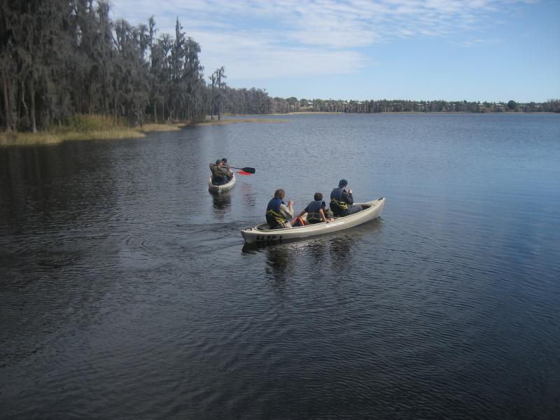 Canoeing at Lake Louisa