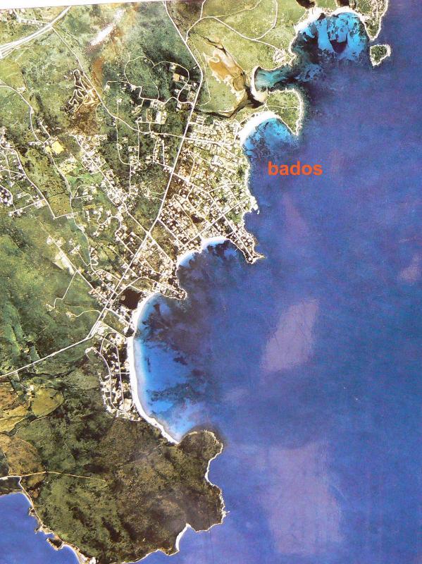 Mappa Bados e Pittulongu