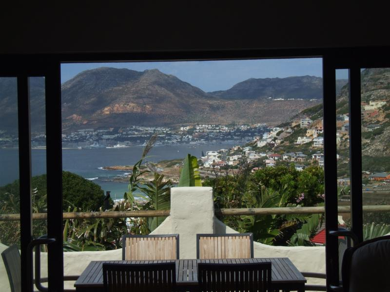 View from the lounge across to Simonstown