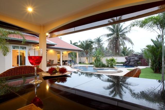 Tropical landscaped Garden