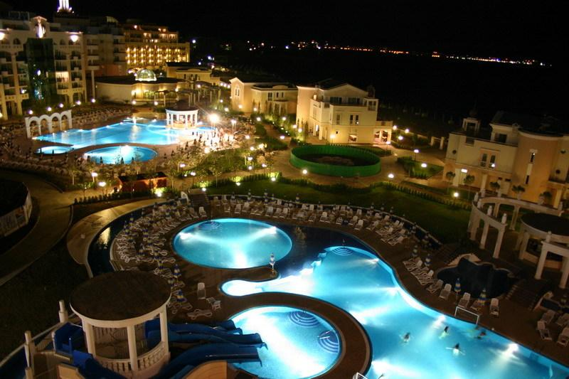 Sunset Resort by Night