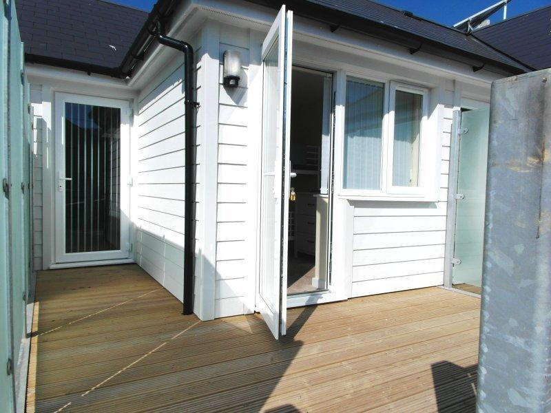 door leading to balcony & garden at Sea breeze in whitstable
