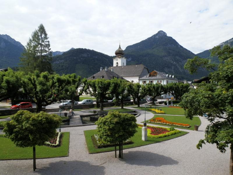 Centro da vila de Strobl