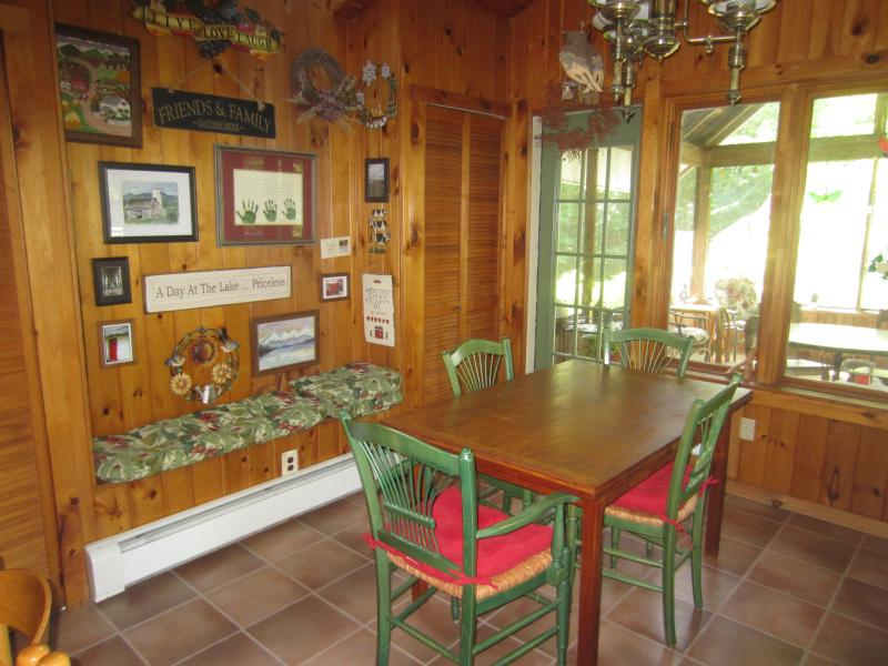 kitchen dining area/summer room beyond