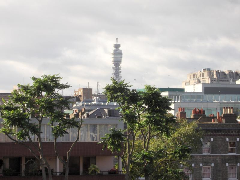 View from window of 2nd bedroom showing Telecom Tower. Apt is not overlooked so light streams in.