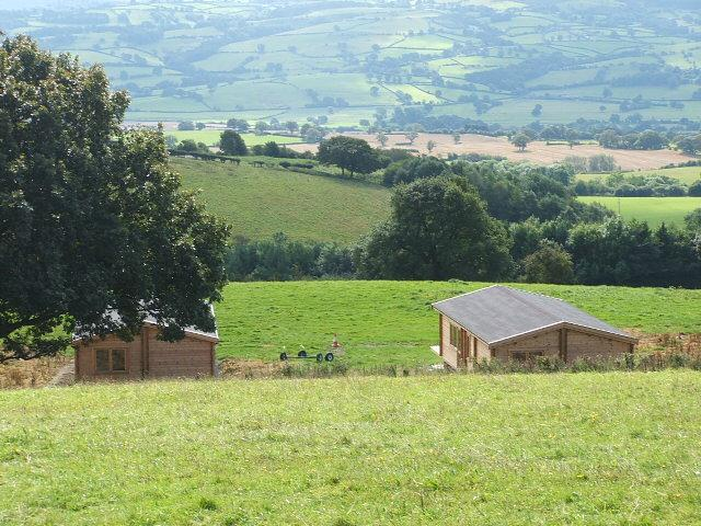 Three  grouped Log cabins  Long Mountain Centre sleep up to 15, holiday rental in Shrewsbury