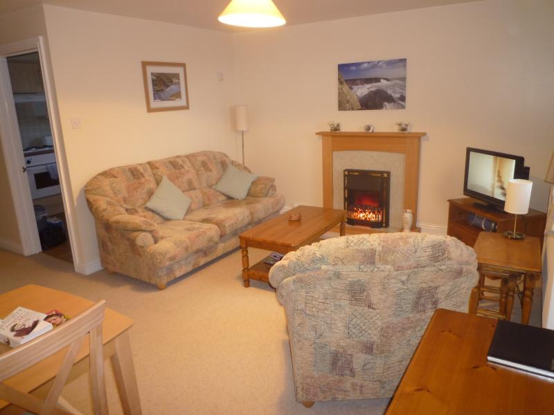 Lounge with Sofa, Arm Chair, LCD TV, DVD player, WI FI,Electric Fire