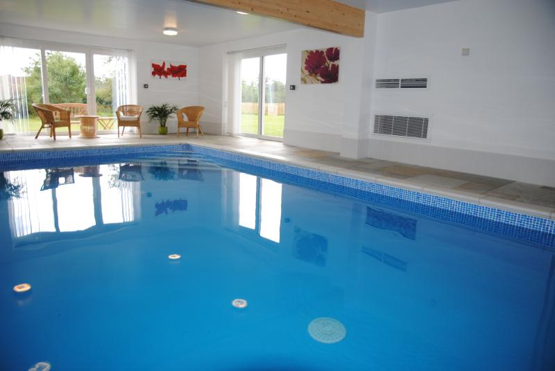 Exclusive use of indoor heated pool with changing room