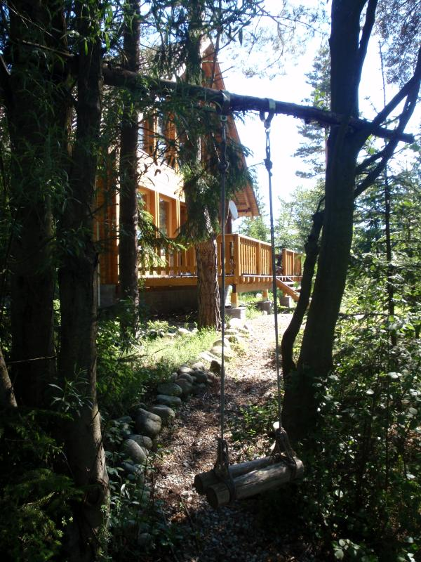 Secluded property on the river bank, yet close to local amenities.