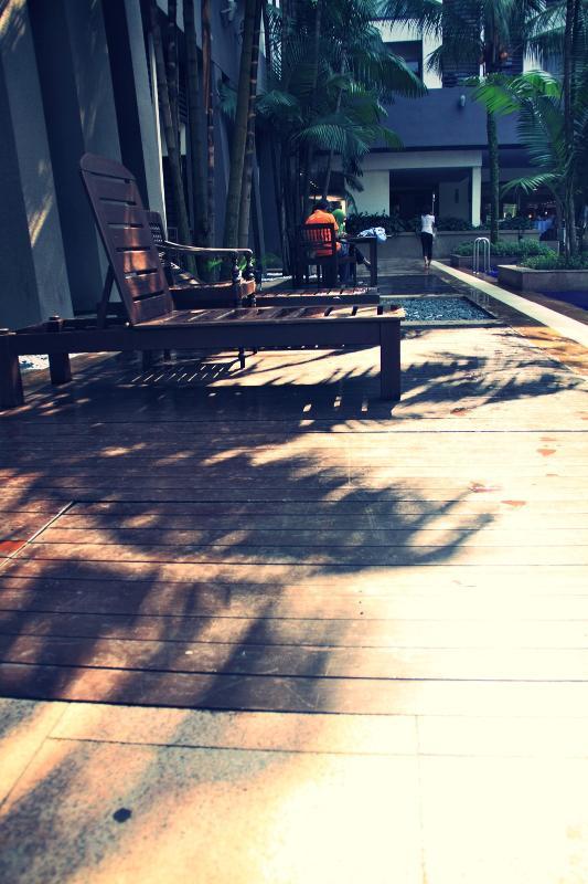 Pool area sundeck
