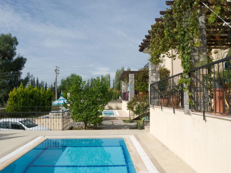 Villa terrace and pool