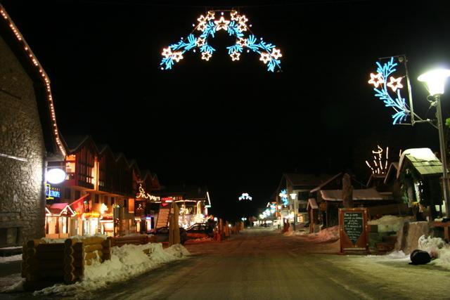 Centro de Zinal en la noche de Navidad 2006