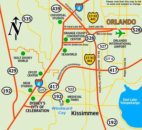 Villa Area Map