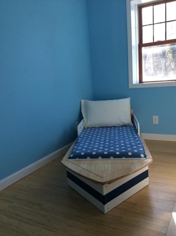 Blue Bedroom and Boat Bed