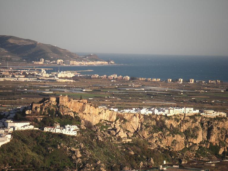 View over Salobrena and Mediterranean