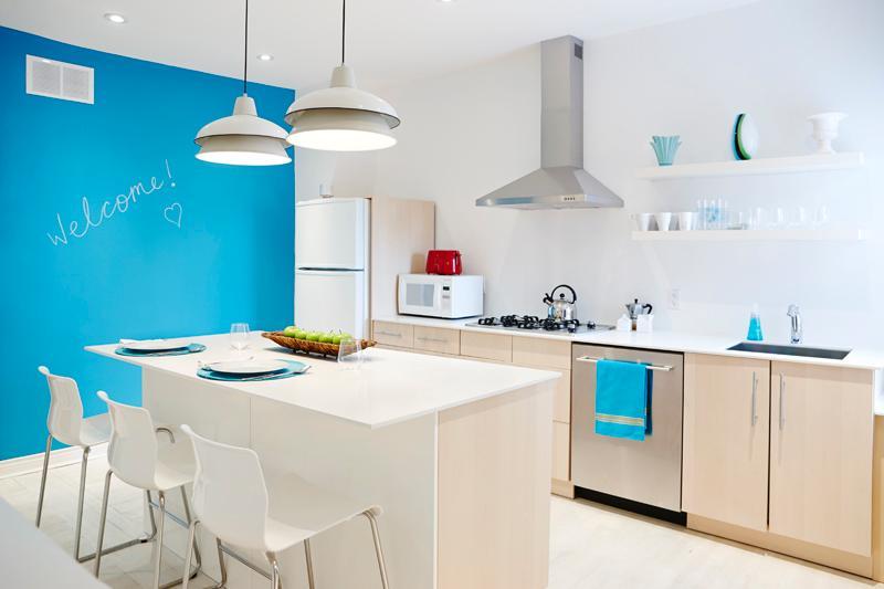 Bright fun kitchen
