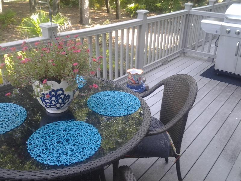 OUTDOOR EATING AREA OVER TURTLE LOGOON