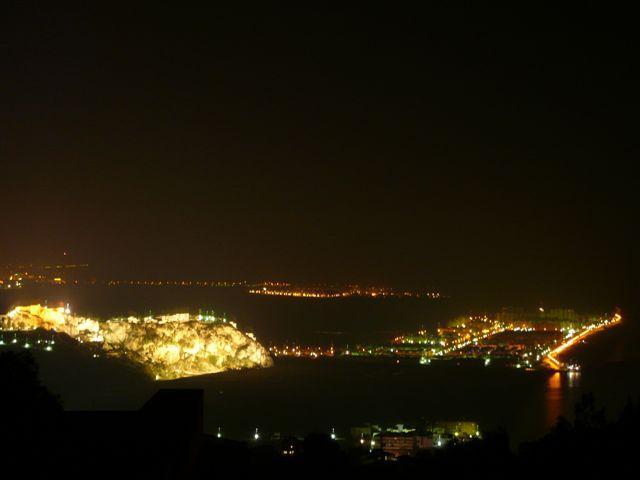 View of Illuminated Castillo from Villa Maeve terrace