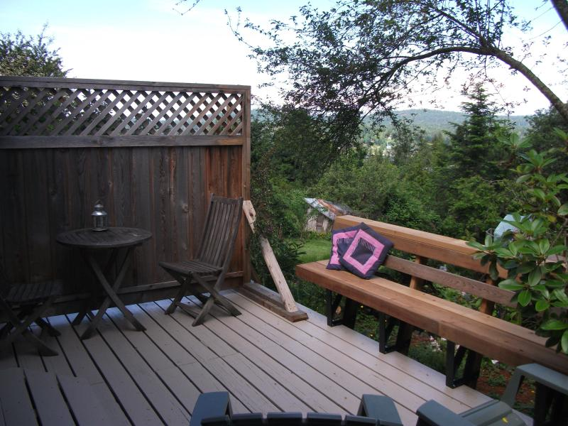 Private Deck just outside the bedroom