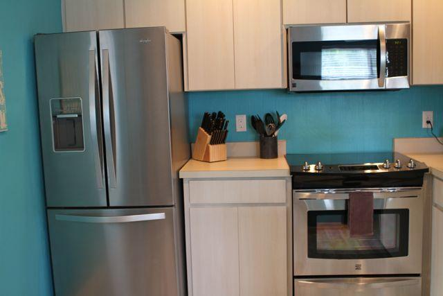 Kitchens are fully equiped and have brand new stainless steel appliances to help you entertain.
