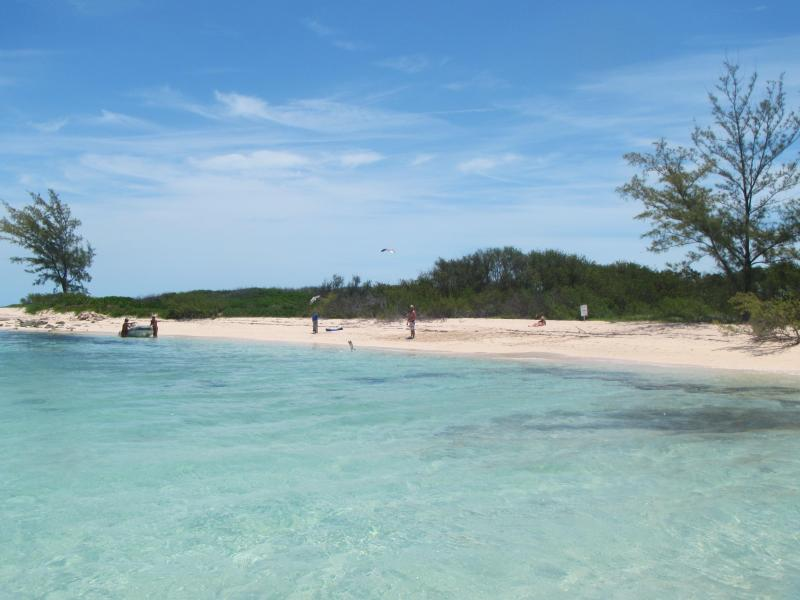 Beautiful white sand beach and crystal clear water.