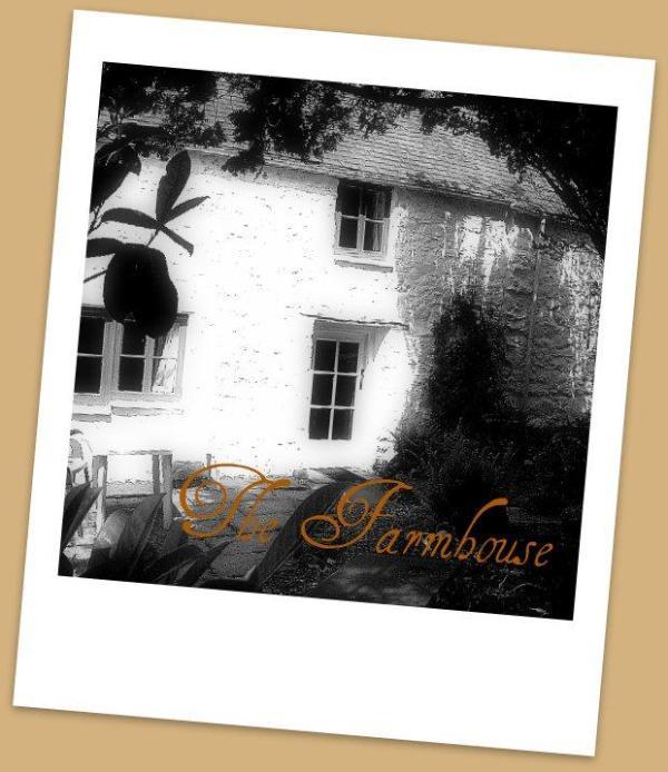 A romantic view of the Farmhouse entrance