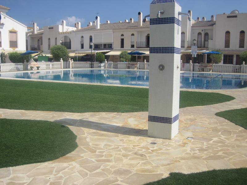 Swimming pool in front of the complex