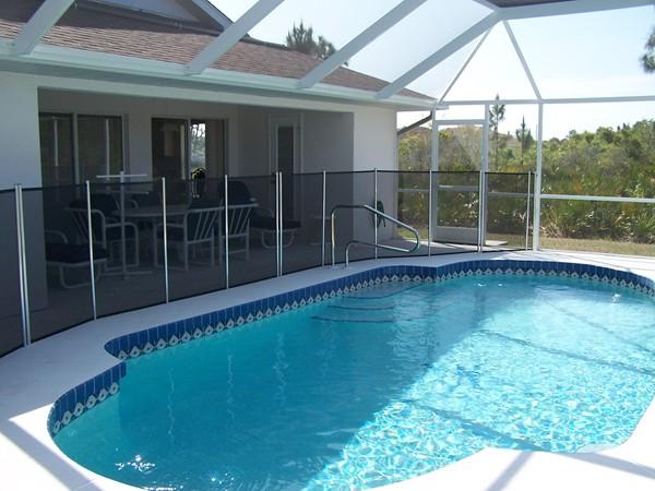 South West facing pool and Lanai/child safety guard