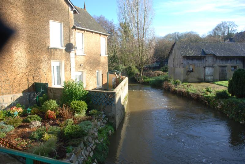 By the river in the village
