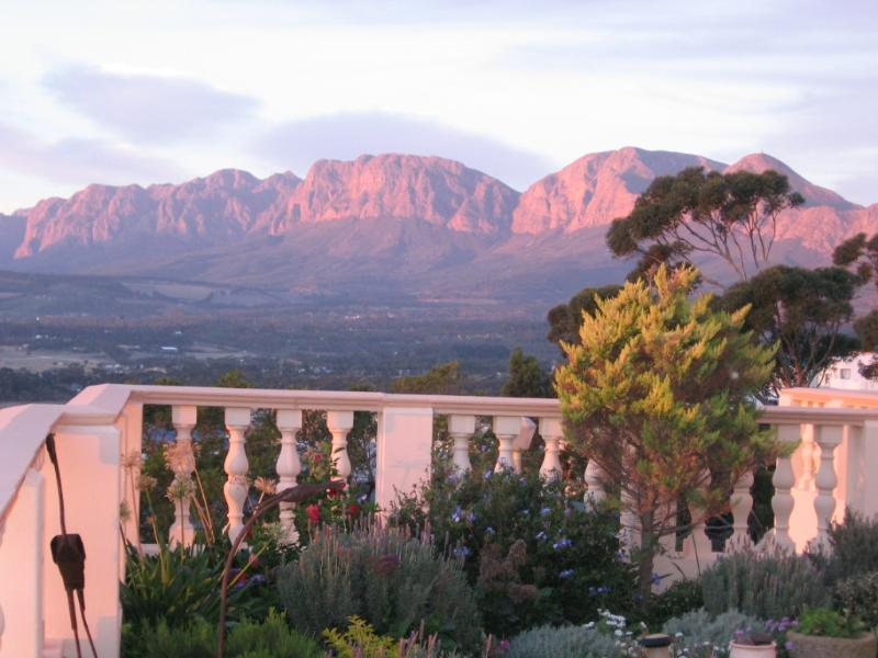Helderberg Mountains in the evening
