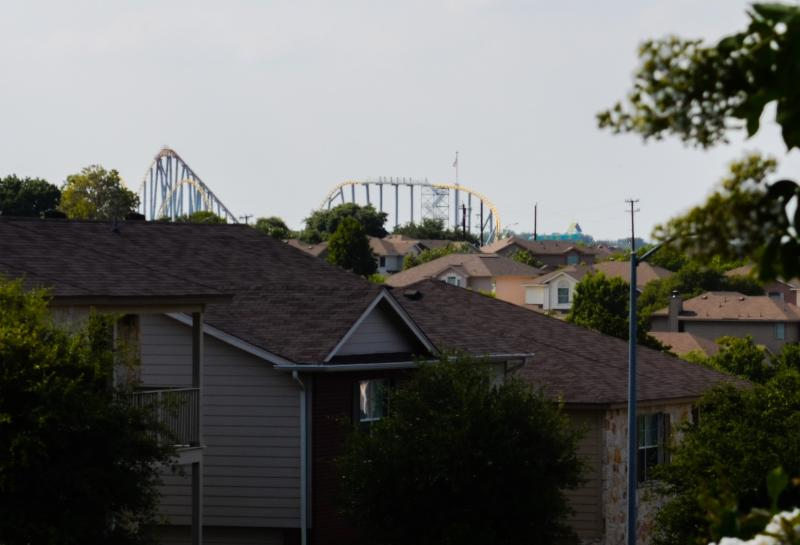 View of Sea World from front yard