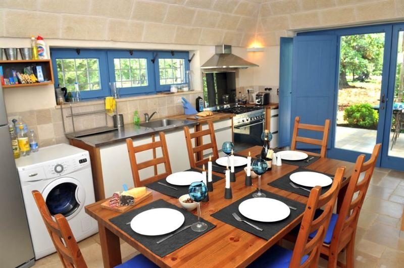 Fully fitted and equipped kitchen with seating for 8 persons