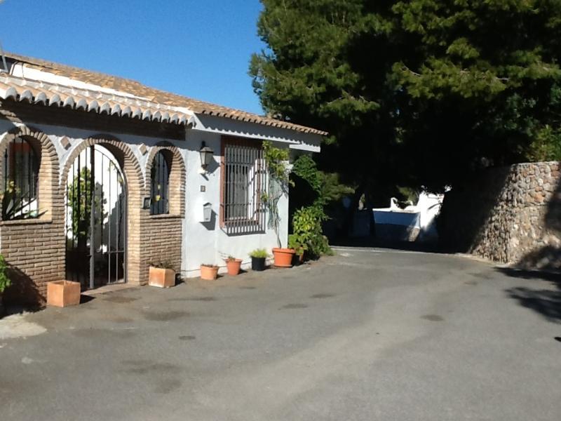 Casa Valderrama entrance with parking and double garage.