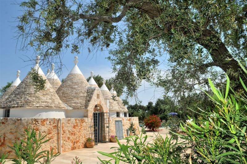 Rear of Trulli, opening onto large patio and pool