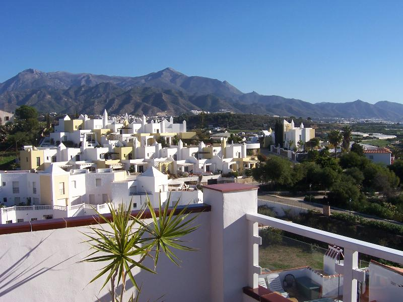 Mountain views from roof terrace