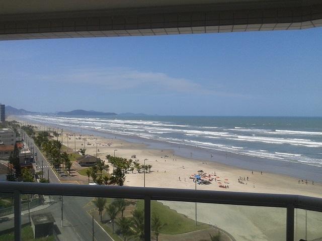Apto Frente Mar Churrasqueira (Praia Grande - SP), aluguéis de temporada em Praia Grande