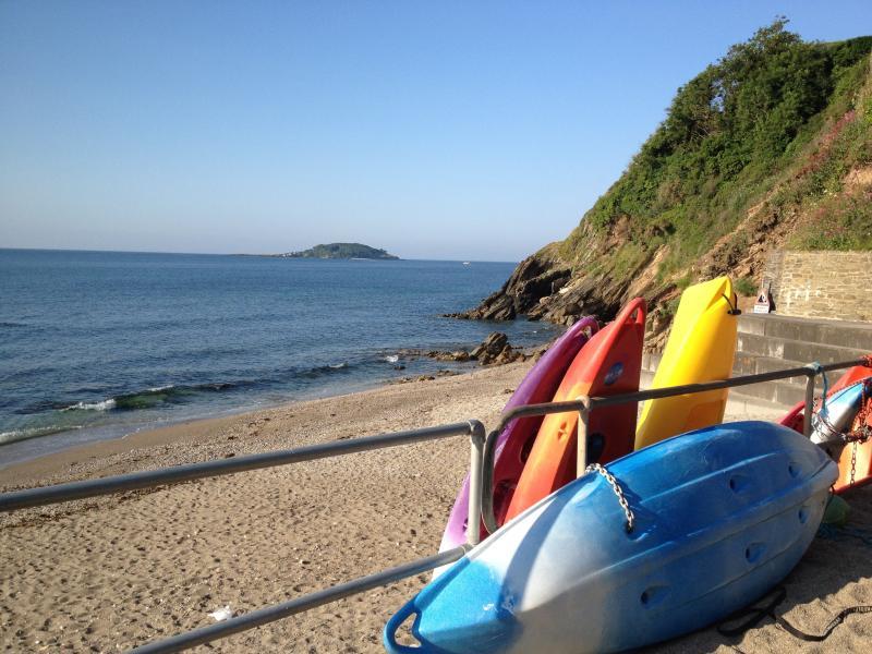 Bright Boats on Plaidy Beach... a 15min walk