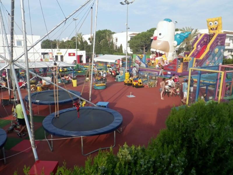 Children park close to the villa