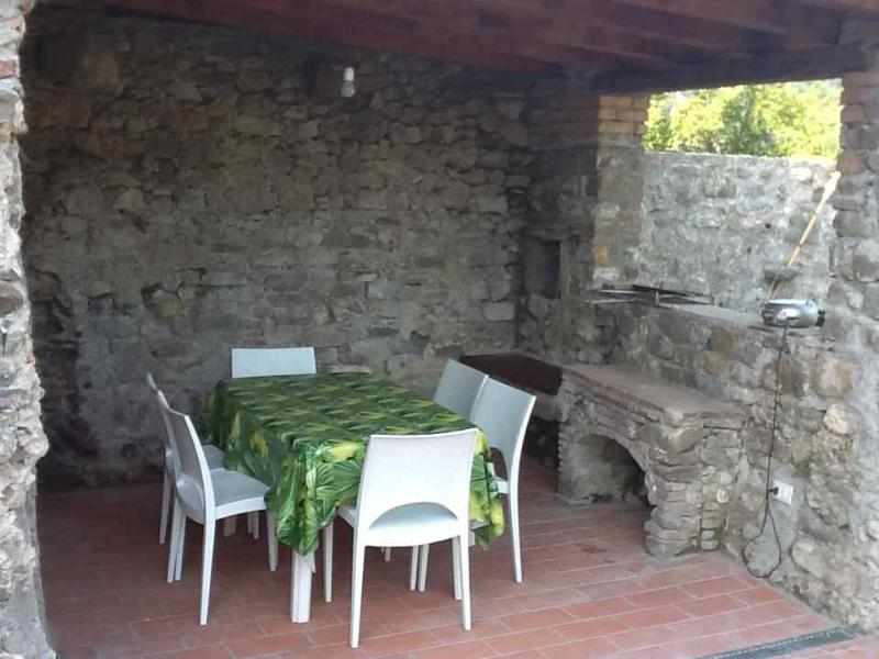 The old kitchen, now a terrace where you can enjoy a barbecue