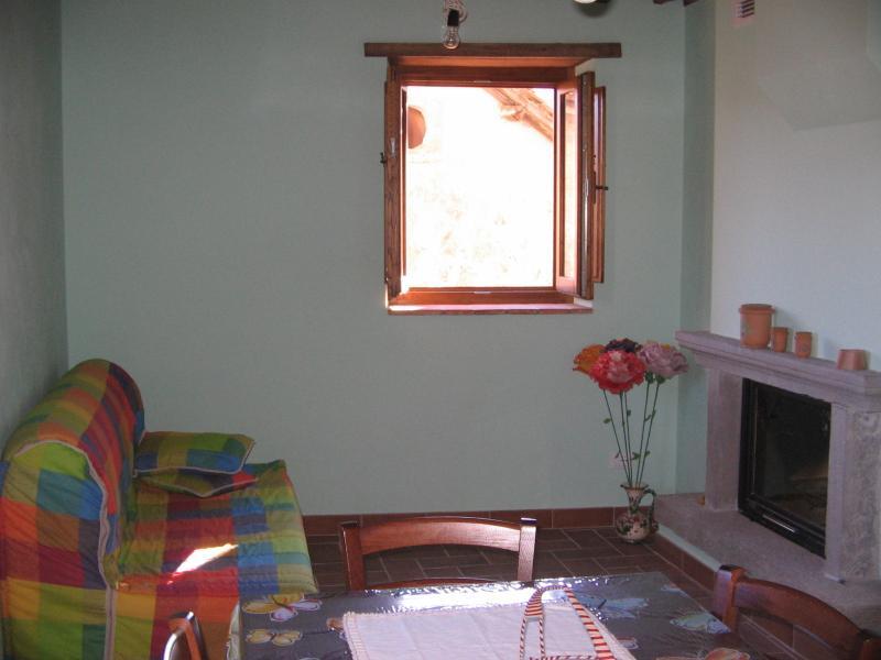 Sala con caminetto