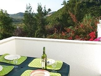Panoramic views from balcony