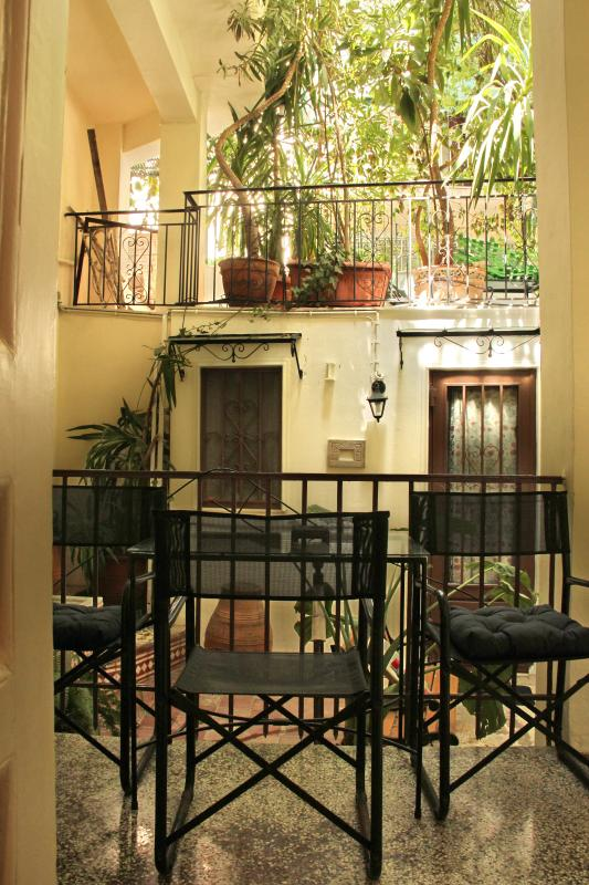 Relax in the private courtyard garden, perfect breakfast or a nightcap