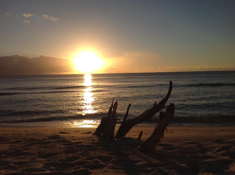Enjoy the glorious sunsets  at almond beach under 5 minutes walk away
