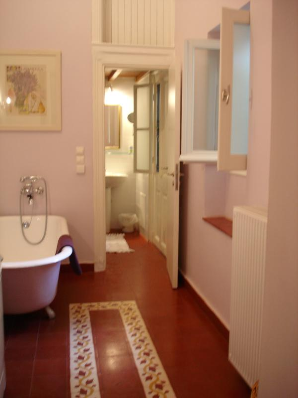 Clawfoot tub and walk in shower - the best of both worlds!