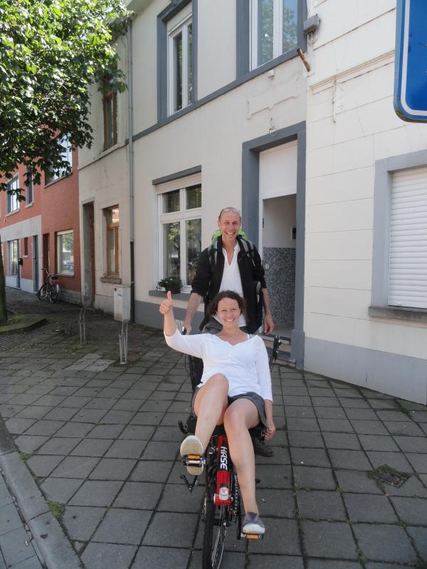 These guests discovered the splendid Hageland by tandem